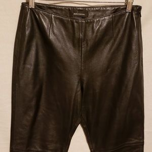 MODA International Black Leather Pants Sz 8